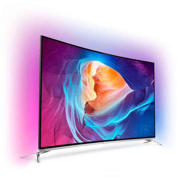"""Телевизор LED Извит Smart Android 3D Philips 55PUS8700/12, 55"""" (139 см), 4K Ultra HD"""