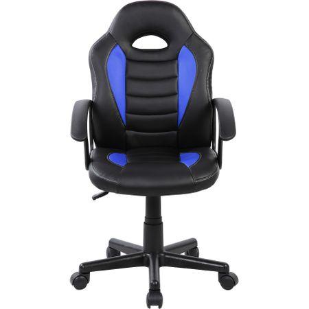 Стол Gaming Kring Omega, PU, Син/Черен