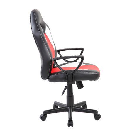 Стол Gaming Kring Kago, Въртящ, Черен/Червен