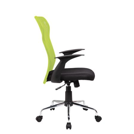 Стол Krign Beta, Ергономичен, Мрежа, Зелен/Черен