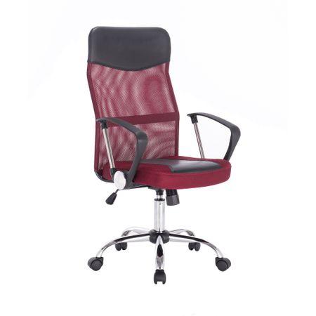 Офис стол Kring New Fit, Ергономичен, Мрежа, Черен/Червен