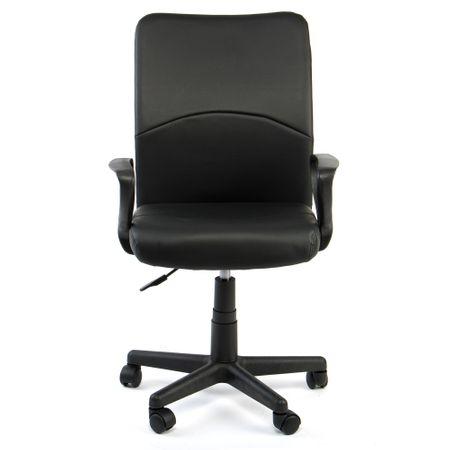 Офис стол Kring Ortem, Ергономичен, PU, Черен