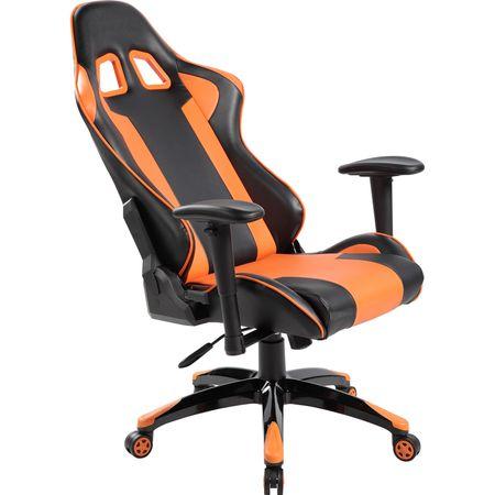 Стол Gaming Kring Amun, Черен/Оранжев