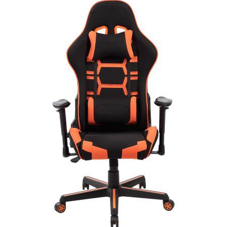 Стол Gaming Kring Orion, Черен/Оранжев