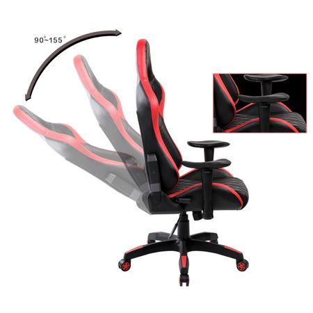 Стол Gaming Kring Racer II, PU, Черен/Червен