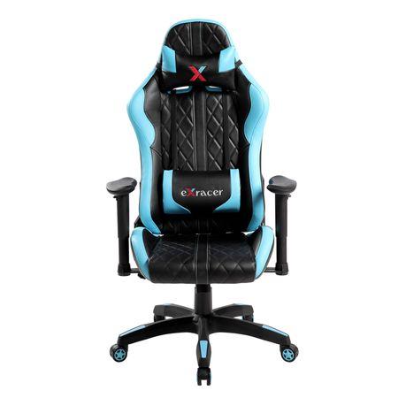 Стол Gaming Kring Racer II, PU, Черен/Син