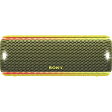 Преносима тонколона Sony SRSXB31Y, EXTRA BASS, LIVE SOUND, Bluetooth, NFC, Wi-Fi, Wireless Party Chain, Party Booster, Водоустойчива, Светлинни ефекти, Жълта