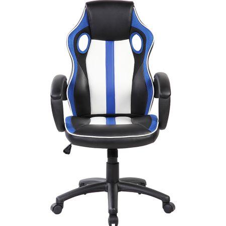 Стол gaming Kring KUL, Бял/Син