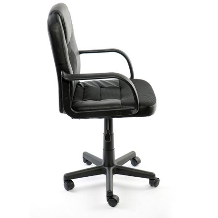 Офис стол Kring Fortune, Ергономичен, PU, Черен