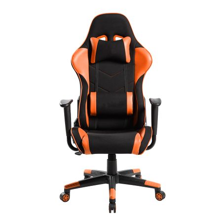 Стол Racing Kring Extreme, Въртящ се, Оранжев/Черен