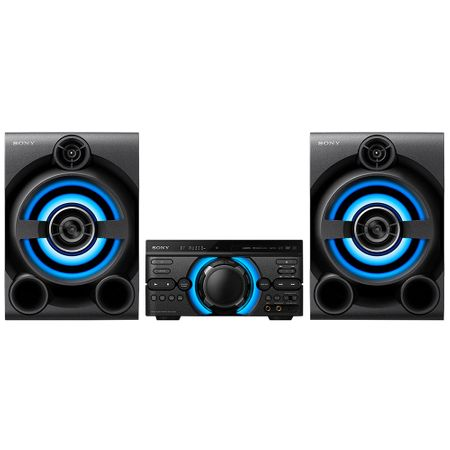 Аудио система High Power Sony MHC-M60D, Mega Bass, Hi-Fi, Party Music, Bluetooth, Wireless Party Chain, USB, DVD, 2050W, Черна