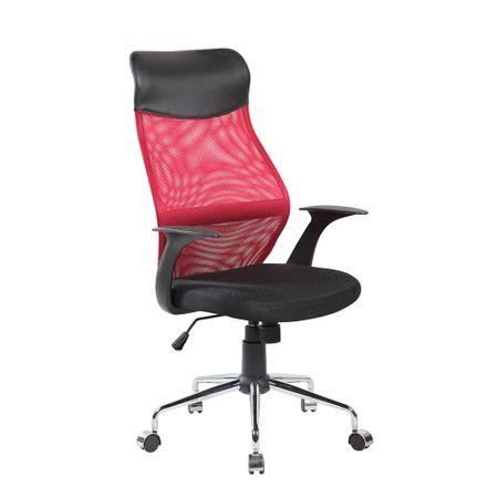 Офис стол Kring Kados Fit, Ергономичен, Черен/Червен
