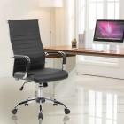 Офис стол Kring New Lear, Ергонимичен, PU, Черен